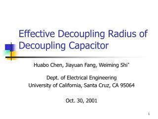Effective Decoupling Radius of Decoupling Capacitor
