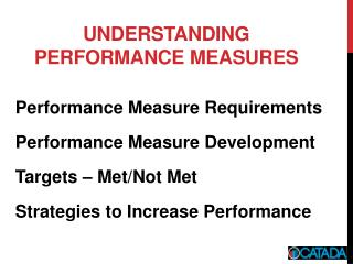 Understanding Performance measures