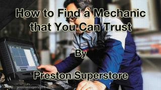 ppt 41972 How to Find a Mechanic that You Can Trust