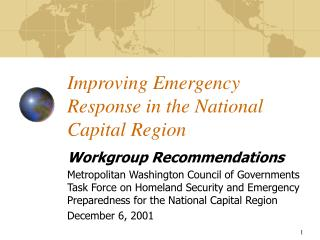Improving Emergency Response in the National Capital Region