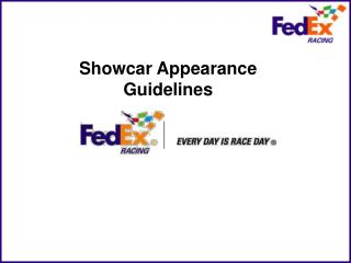 Showcar Appearance Guidelines