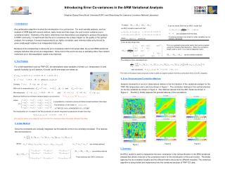 Introducing Error Co-variances in the ARM Variational Analysis