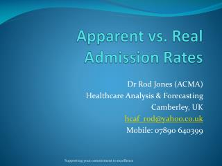 Apparent vs. Real Admission Rates