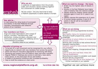 regionalplatform.uk Tel 07930 386 781 Together we can achieve more
