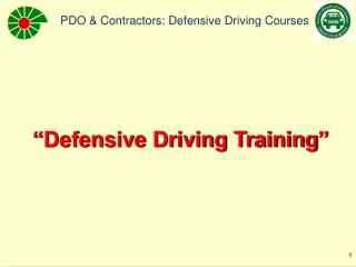 """Defensive Driving Training"""