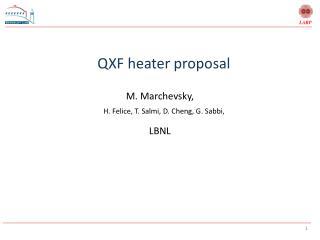 QXF heater proposal