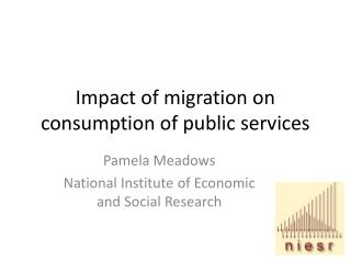 Impact of migration on consumption of public services
