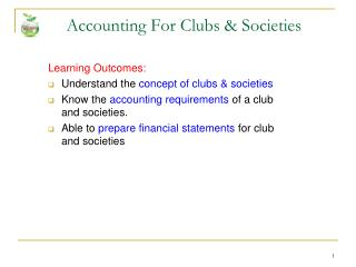 Accounting For Clubs & Societies