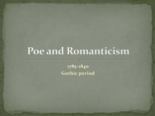 Poe and Romanticism