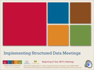 Implementing Structured Data Meetings