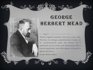 george herbert mead erving goffman Herbert, cooley and goffman's theory erving goffman and the performed self bbc radio 4 127,572 views 1:59 george herbert mead's stages of self.