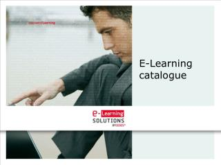 E-Learning catalogue