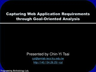 Capturing Web Application Requirements through Goal-Oriented Analysis