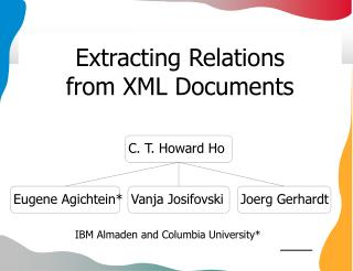 Extracting Relations  from XML Documents