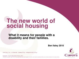 The new world of social housing