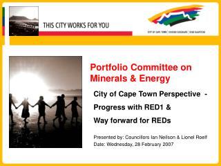 Portfolio Committee on Minerals & Energy