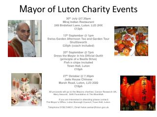 Ma yor of Luton Charity Events