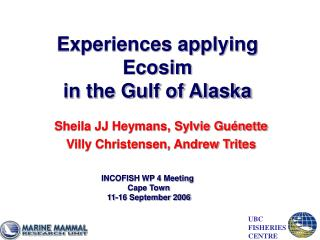 Experiences applying Ecosim in the Gulf of Alaska
