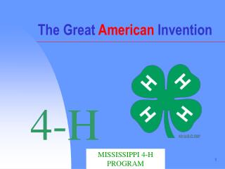 The Great American Invention