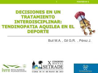 Buil  M.A.  ,  Gil G.R.   ,  Pérez J .