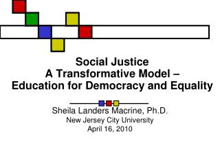Social Justice A Transformative Model   Education for Democracy and Equality