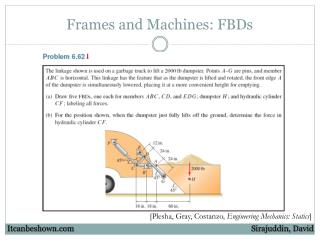 Frames and Machines: FBDs