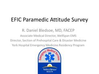 EFIC Paramedic Attitude Survey