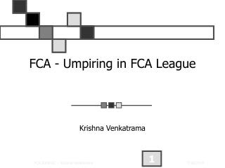 FCA - Umpiring in FCA League