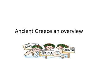 Ancient Greece an overview