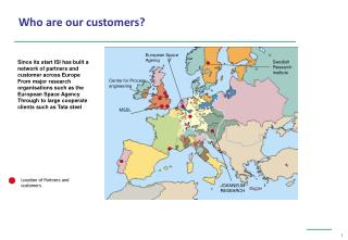 Location of Partners and customers