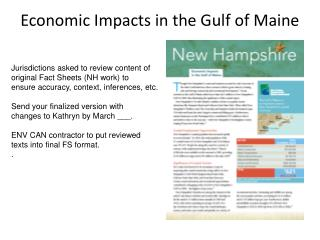 Economic Impacts in the Gulf of Maine