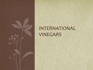 International Vinegars