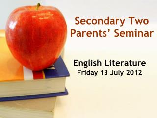 Secondary Two Parents' Seminar