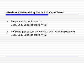 « Business Networking Circle» di Cape Town