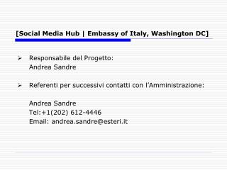 [Social Media Hub | Embassy of Italy, Washington DC]