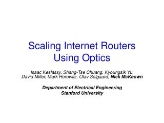 Scaling Internet Routers