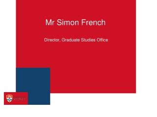Mr Simon French