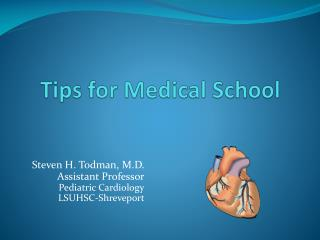 Tips for Medical School