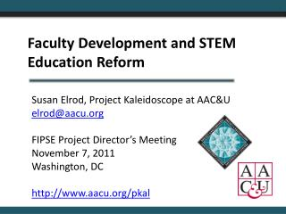 Faculty Development and STEM Education Reform