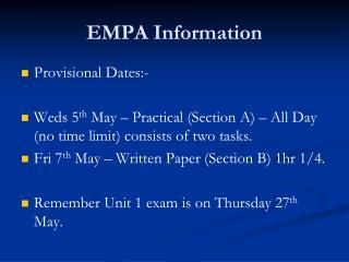 EMPA Information
