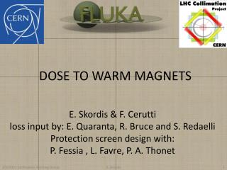 DOSE TO WARM MAGNETS
