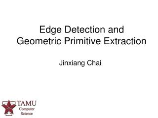 Edge Detection and Geometric Primitive Extraction