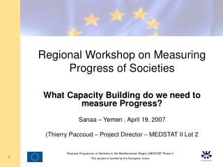 Regional Workshop on Measuring Progress of Societies