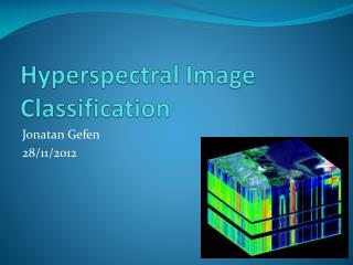 Hyperspectral  Image Classification