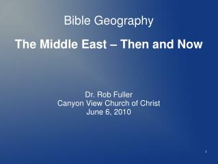 Bible Geography