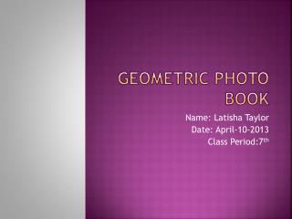 Geometric photo book