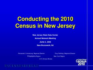 Conducting the 2010 Census in New Jersey