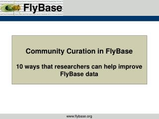 Community Curation in FlyBase 10 ways that researchers can help improve FlyBase data