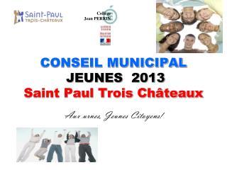 CONSEIL MUNICIPAL JEUNES  2013 Saint Paul Trois Châteaux