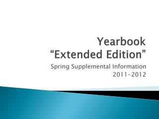 "Yearbook  ""Extended Edition"""